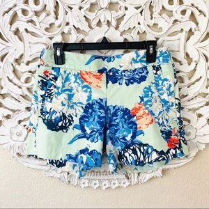{J. Crew} Floral Stretch Shorts